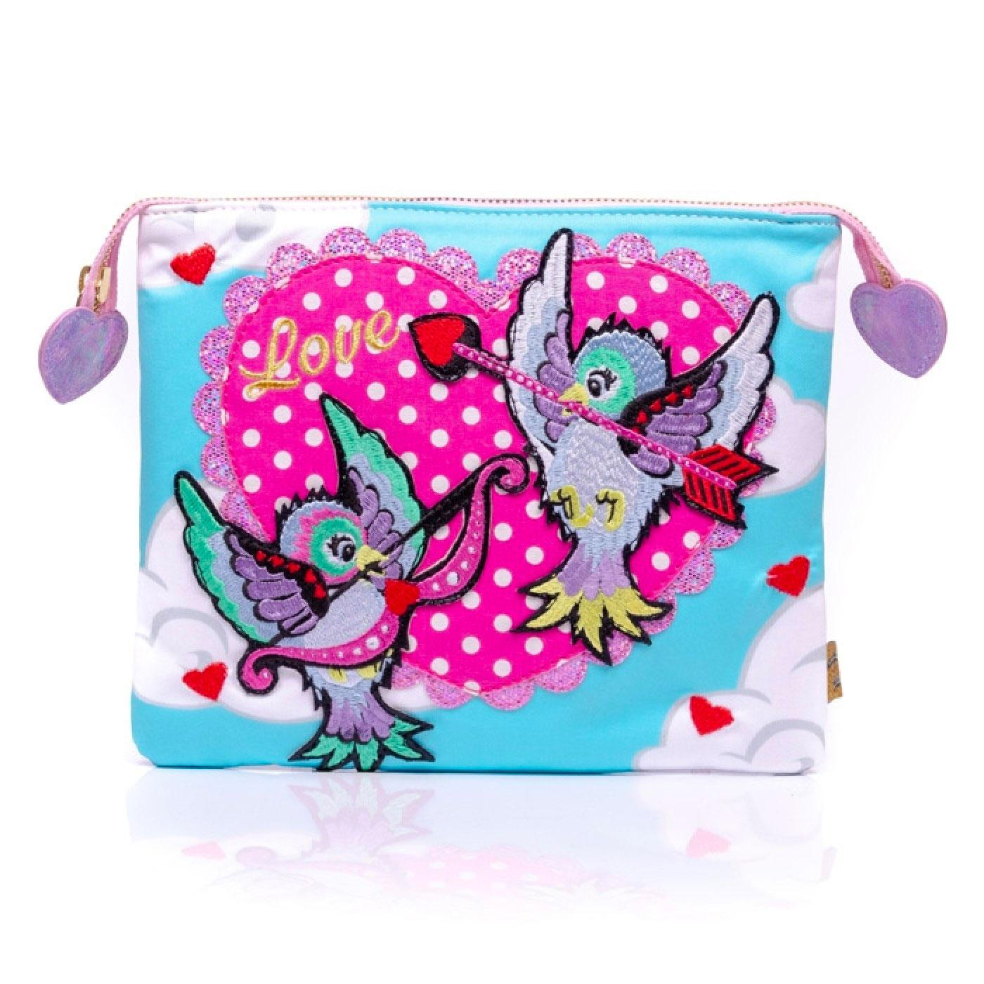 CUPID IRREGULAR CHOICE VINTAGE LOVE BIRD POUCH